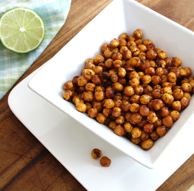Then when cooled, place roasted chickpeas in a bowl or serving dish of ...